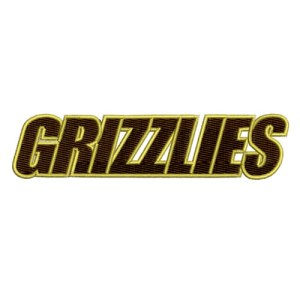 Grizzlies Athletics Sports Team Embroidery Design