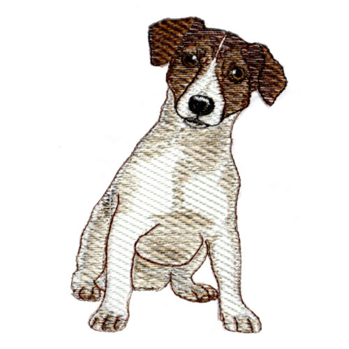 Jack Russel Terrier Dog Puppy Embroidery Design