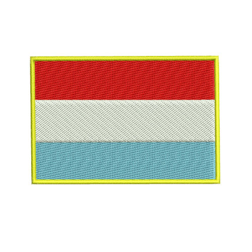 Luxembourg Flag Embroidery Design