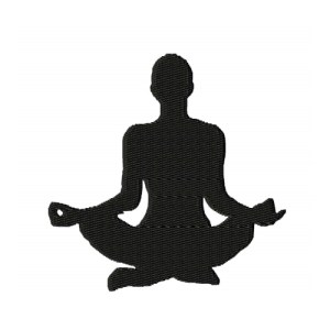 Meditation Silhouette Embroidery Design