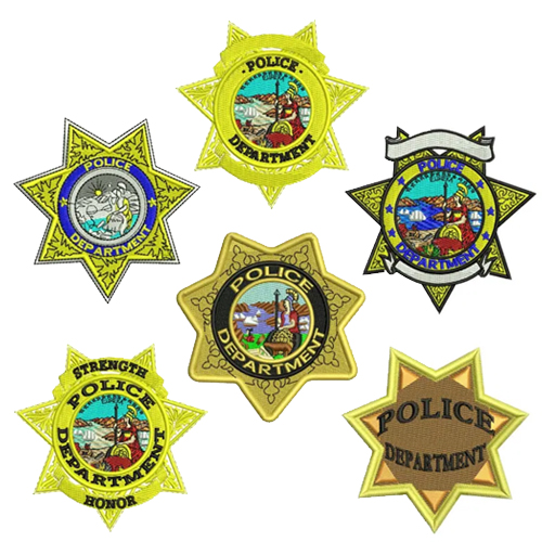 Police Badge Embroidery Design Discount Value Pack