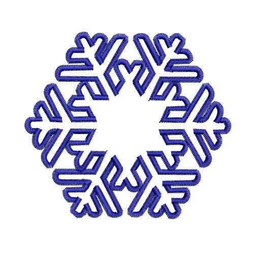 Snowflake Celtic Knot Embroidery Design