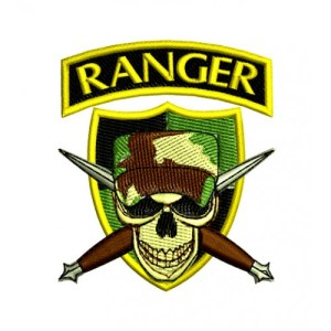 US ARMY Ranger Skull Cap Knives Embroidery Design