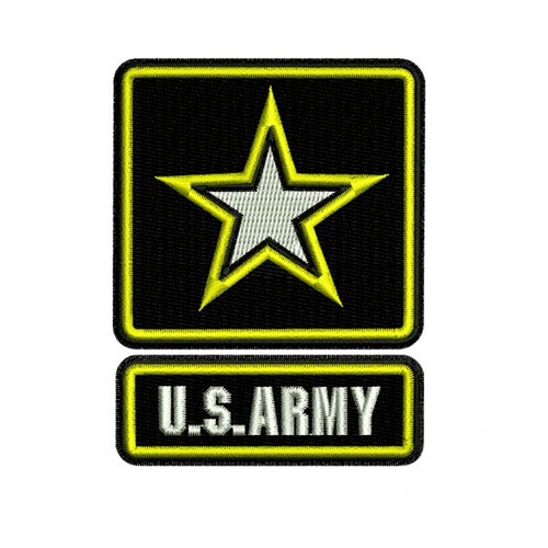 US Army Star Logo Embroidery Design
