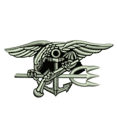 USN Navy Seals Trident Seal Team Embroidery Design