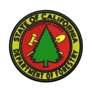 Vintage CDF Department of Forestry Embroidery Design