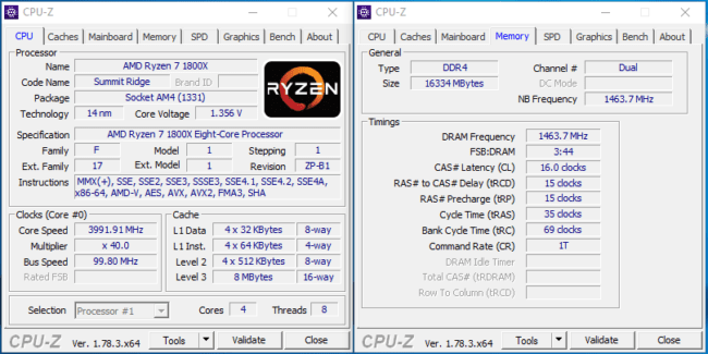 4-core Ryzen 5 CPU-Z