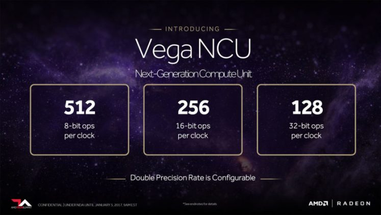 AMD Vega 10 specs - Vega NCU detailed