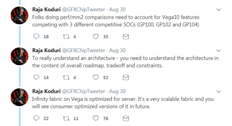 Raja Koduri: RX Vega optimized for server, consumer versions on the way