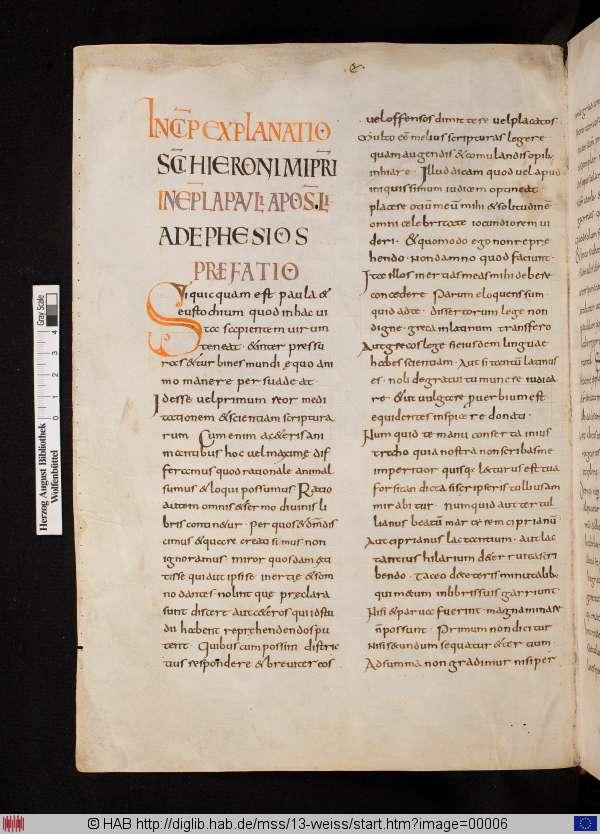 Wolfenbüttel MS Codex Guelfybertiani 13, fo. 6v