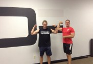 Gene Theide Showing Off his results at Digman Fitness Madison, WI