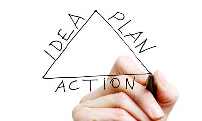 Image result for plan triangle idea action