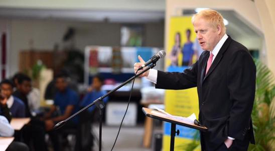 Boris Johnson en conférence en 2018