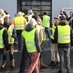 Des employés de FordBlanquefort lors d'une manifestation en janvier 2019