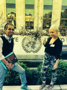 Me and Kristina Ronnquist representing DPN's Building Resilience at the UN in Geneva, Switzerland