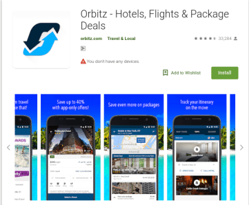 Orbitz - Top 10 travel and tourism mobile apps