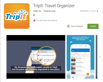 TripIt - Top 10 travel and tourism mobile apps