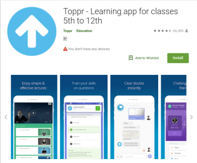 top 10 educational mobile apps- Toppr