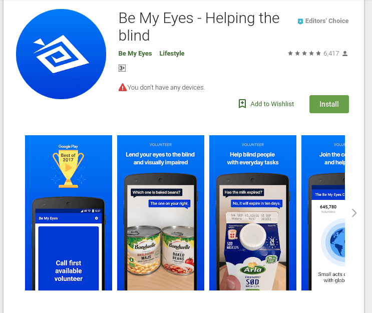 be my eyes mobile app