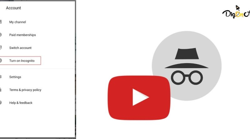 Youtube incognito mode private browsing