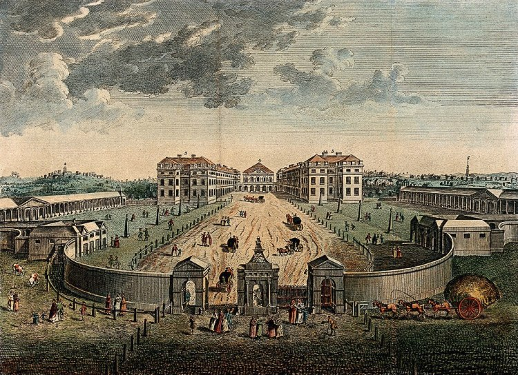 A view from above of the London foundling hospital
