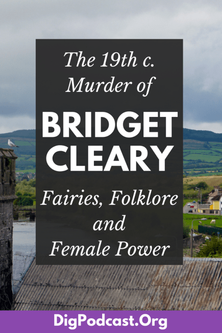 After Michael Cleary murdered his wife Bridget Cleary, he wandered the Tipperary countryside in his best suit, telling everyone he met that he was going to reclaim her from the fairies. Three nights he waited for her to come out of the local fairy fort - the ring of stones that were settlements in Neolithic Ireland and have since fallen into ruin and legend. Of course she didn't. She was buried in a shallow grave not far from their home in Ballyvadlea, Ireland. #ireland #irish #irishhistory #bridgetcleary