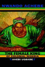 A colorful book cover featuring a large black woman dressed in green Nigerian garb