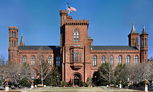 a color photograph of the smithsonian castle
