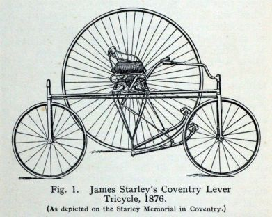 a black and white print of a bicycle