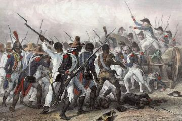 A painting depicting a battle of the Haitian Revolution