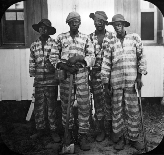 Slave Codes, Black Codes and Jim Crow: Codifying the Color Line. Convicts Leased to Harvest Timber, around 1915, Florida