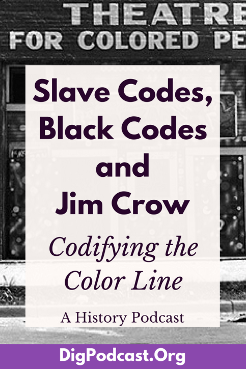 In today's episode we are discussing some laws in the United States that governed the bodies and lives of enslaved people and follow how those laws changed, or didn't change, through emancipation and into the late twentieth century. So buckle up for a long look at Slave Codes, Black Codes, and Jim Crow laws in America.