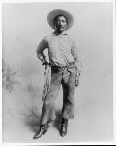 a photograph of black cowbpy Bill Pickett