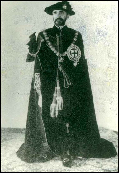 Haile Sellassie in regalia
