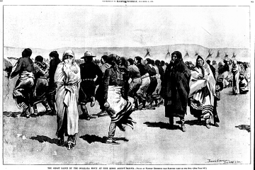 The Lakota performing the Ghost Dance at Pine Ridge
