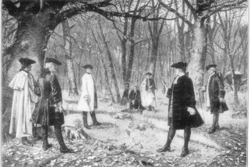 engraving of the Hamilton-Burr Duel
