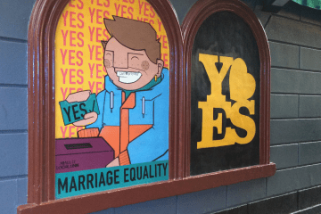 Vote Yes public art in Dublin