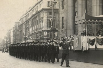 New Garda recruits salute the President of Ireland, An Tóstal, 1954