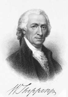 A black and white lithograph image of William Shippen
