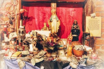 Voodoo altar in the French Quarter of New Orleans