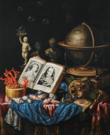 Carstian Luyckx, Allegory of Charles I of England and Henrietta of France in a Vanitas Still Life, after 1669 (?), Birminham Museum of Art