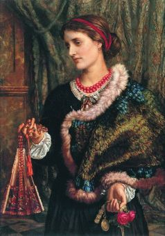 William Holman Hunt, The Birthday (A Portrait Of The Artist's Wife, Edith) (1868)