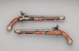 Pair of flintlock pistols, Algeria, late 18th - early 19th century, The Met (36.25.2246a, b)