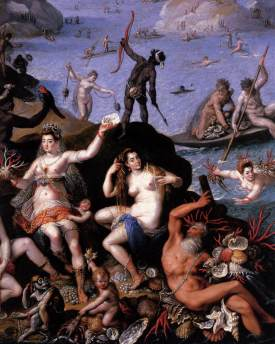 Jacopo Zucchi, The Coral Fishers (c. 1585), detail
