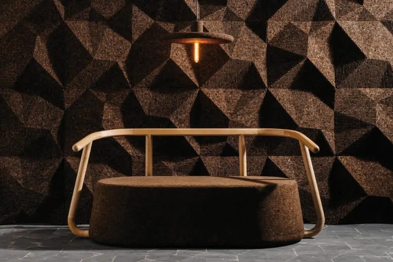 Sustainable Modern Cork Furniture Collection By DIGITALAB