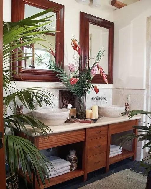 Small Tropical Style Bathroom Novocom Top