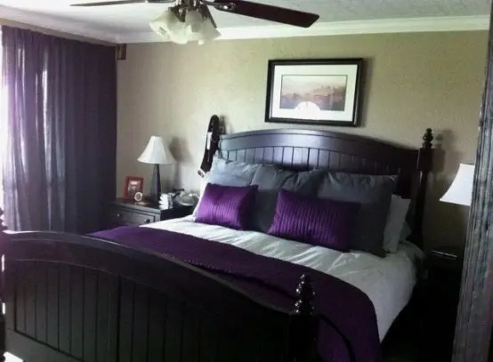Purple Accents In Bedrooms