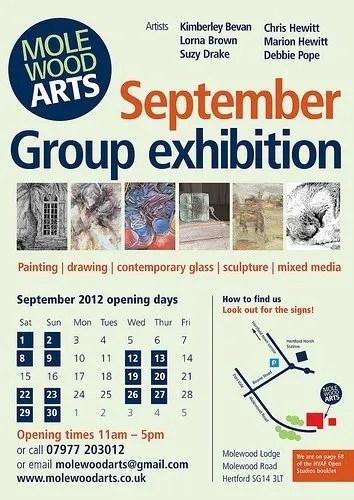 Molewood Arts Open Studios Poster