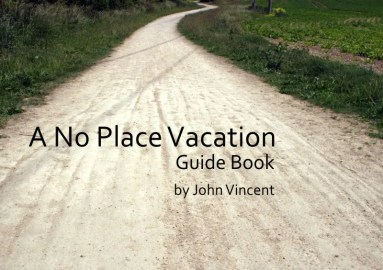 A No Place Vacation Guide Book front cover