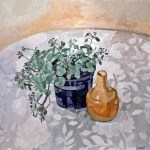 """Plant and Vase"", Oil on canvas, 2014"